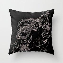 Wine Woman Throw Pillow