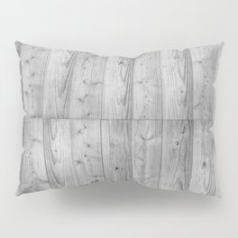 Wood Planks in black and white Pillow Sham