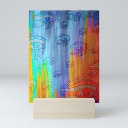 Abstract Eye of Horus Art Mini Art Print