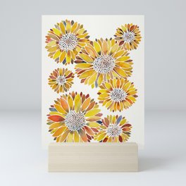 Sunflower Blooms – Yellow Mini Art Print