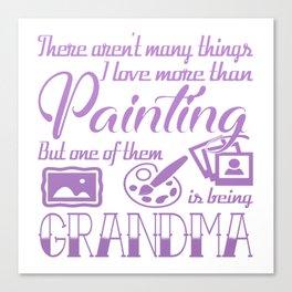Painting Grandma Canvas Print