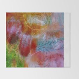 Pink Passion Tulips  Throw Blanket