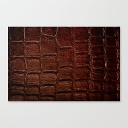 Dark brown snake leather cloth imitation Canvas Print