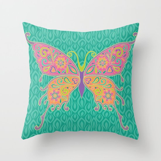 Butterflies Are Free To Fly... Throw Pillow