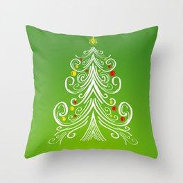 Christmas decorations 4 Christmas tree Throw Pillow