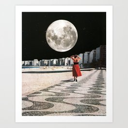 Moonwalk Art Print