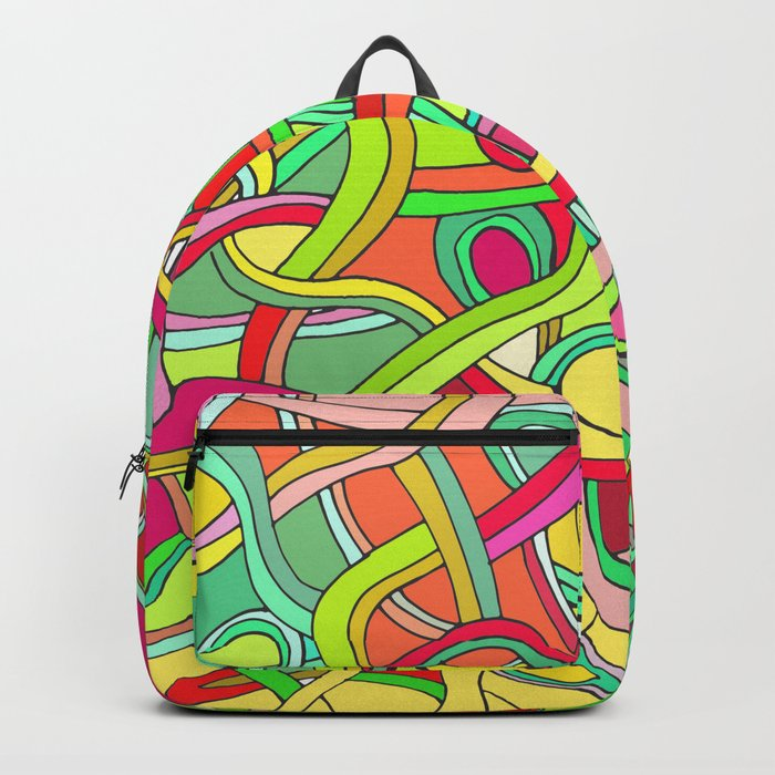 Color curved lines 2 Backpack