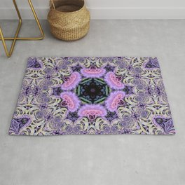 Purple and Lace Mandala Rug