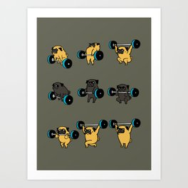 OLYMPIC LIFTING PUG Art Print
