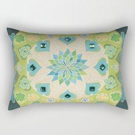 Mandala en verdes y azules Rectangular Pillow