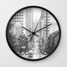 Steep Hills in San Francisco Wall Clock