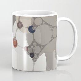 sarah - midtone abstract subdued colour taupe white tan purple Coffee Mug