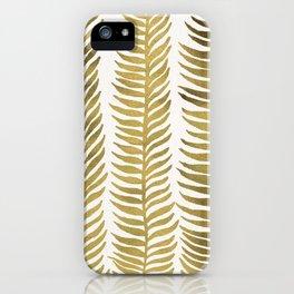 Golden Seaweed iPhone Case