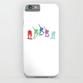 Colorful Skaters Skateboard Skateboarding Gift iPhone Case