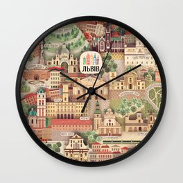 Lviv. Open for the World. Wall Clock