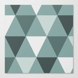 Teal Triangles Canvas Print