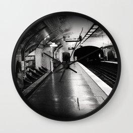 Paris Subway Stop Notre Dame de Lorette Wall Clock