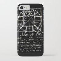 da vinci iPhone & iPod Cases featuring Kot da Vinci (black) by Katja Main