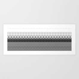Loom: Black and White, November Trees Art Print