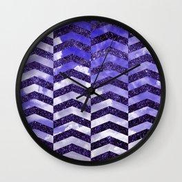 Cloudly Starry Sky -Purple Wall Clock