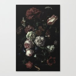 Arms Full Of Flowers II [antique painting remixed] Canvas Print