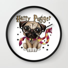Harry Pugger- The cute Pugg Dogs Wall Clock