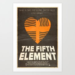 Me Protect You - The Fifth Element Poster Art Print