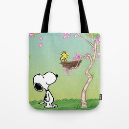 Woodstock in the Cherry Blossoms Posters Tote Bag