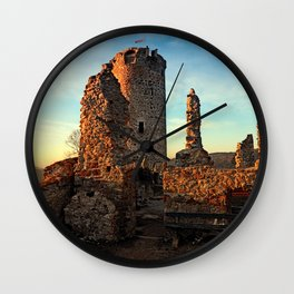 The ruins of Waxenberg castle | architectural photography Wall Clock