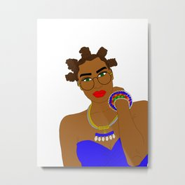 West African Girl with Chiney Bumps Metal Print