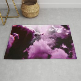 Astronaut in the Clouds-Purple Rug