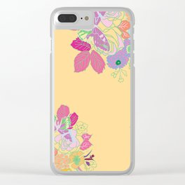 Petite Had Drawn Collection Bouquet Clear iPhone Case