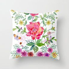 Bowers of Flowers Throw Pillow