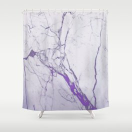 MARBLE PURPLE Shower Curtain