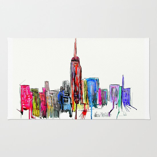 new york inked  Rug