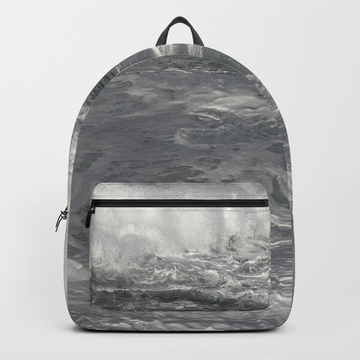 Roiling in Almost Black and White Backpack