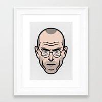 steve jobs Framed Art Prints featuring STEVE JOBS by Kojó Tamás