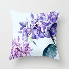 Hydrangea blue hues Throw Pillow