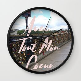 With All My Heart, Paris Wall Clock