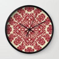 renaissance Wall Clocks featuring Renaissance Disco by Octavia Soldani