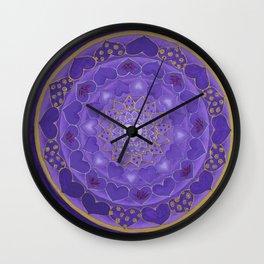 Divine Love Mandala Wall Clock