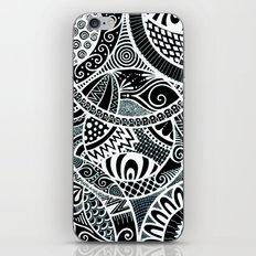 White tangled circles iPhone & iPod Skin