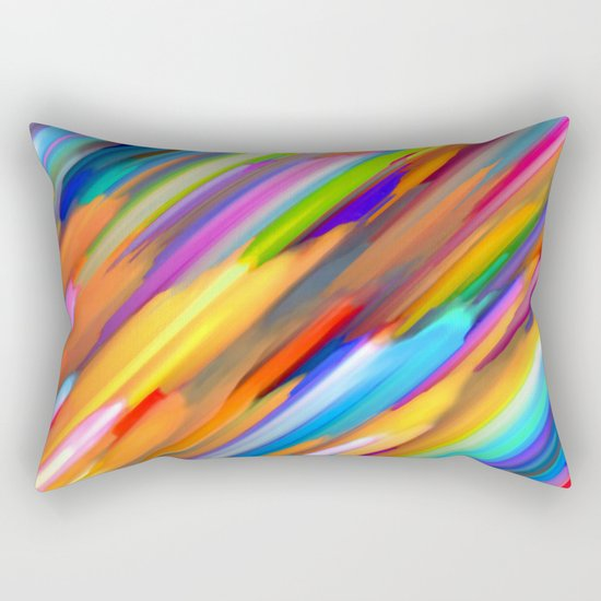 Colorful digital art splashing G391 Rectangular Pillow