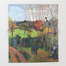 The willow tree  Paul Gauguin Throw Blanket