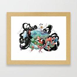 Chameleon King Framed Art Print