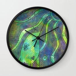 """Looking at the Sun'' | Original painting by Mimi Bondi Wall Clock"