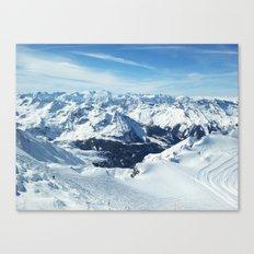 alps mountain landscape Canvas Print