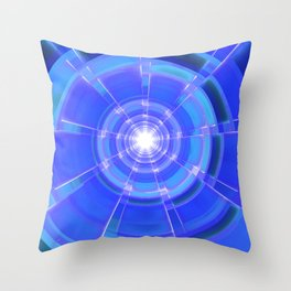 Sapphire Scope Throw Pillow