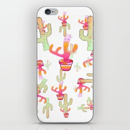 Cactus Family Day iPhone Skin