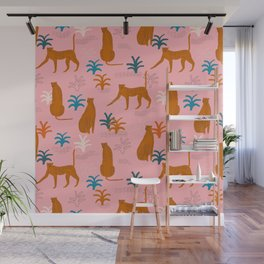 The Pink Jungle Wall Mural